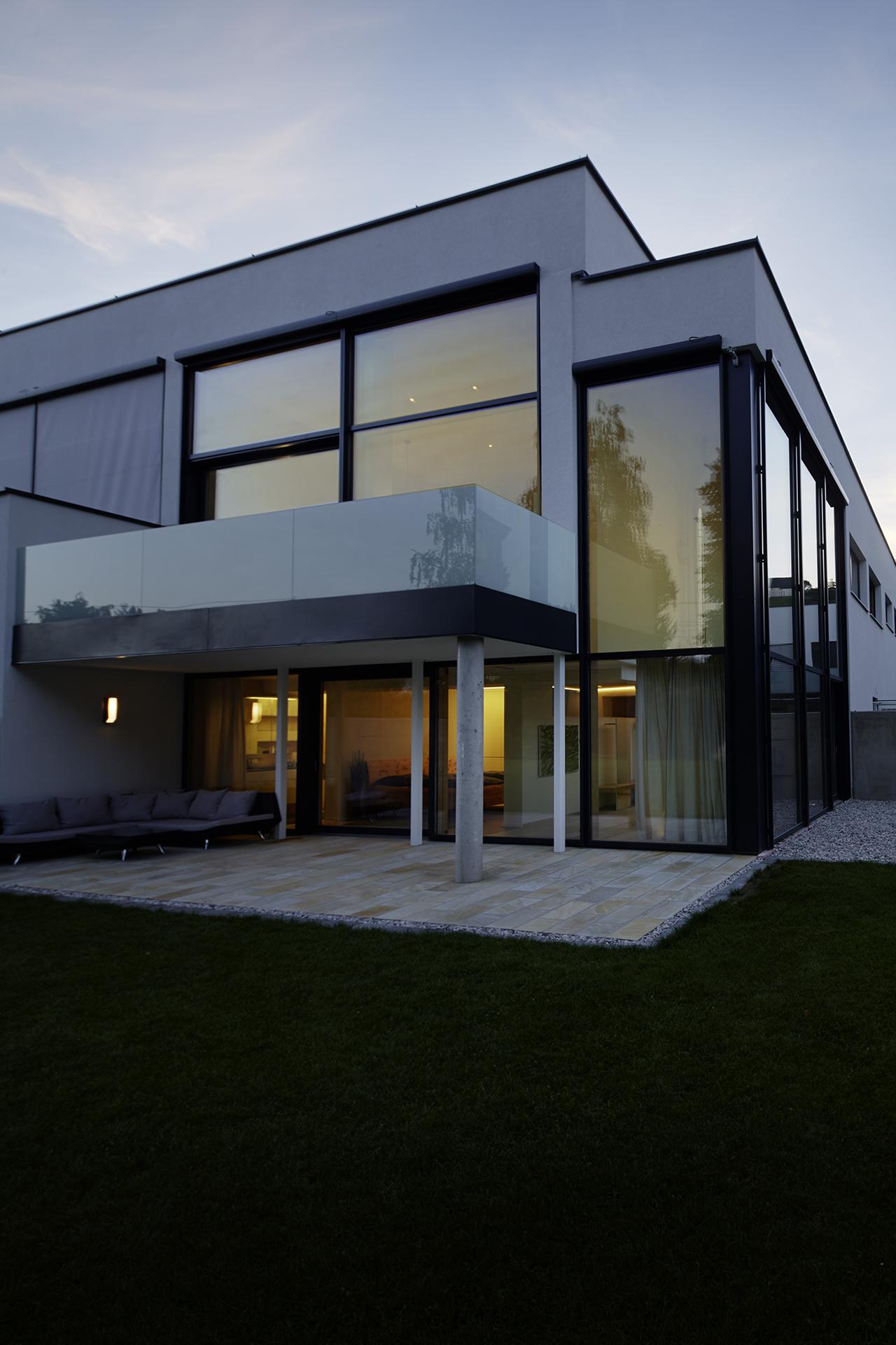 Glasfassade Haus W